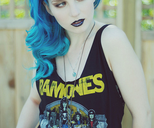 ramones, blue hair, and hair image