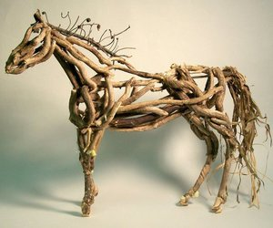 horse, art, and sculpture image
