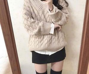 fashionable, korean fashion, and neutral colors image
