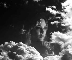 black and white, black and white photography, and clouds image