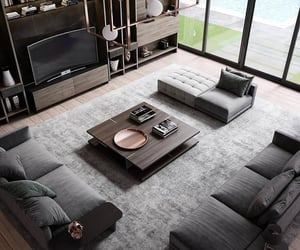 aesthetics, home, and living room image