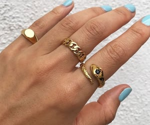 blue, jewelry, and rings image