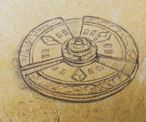 book, key, and artifact image