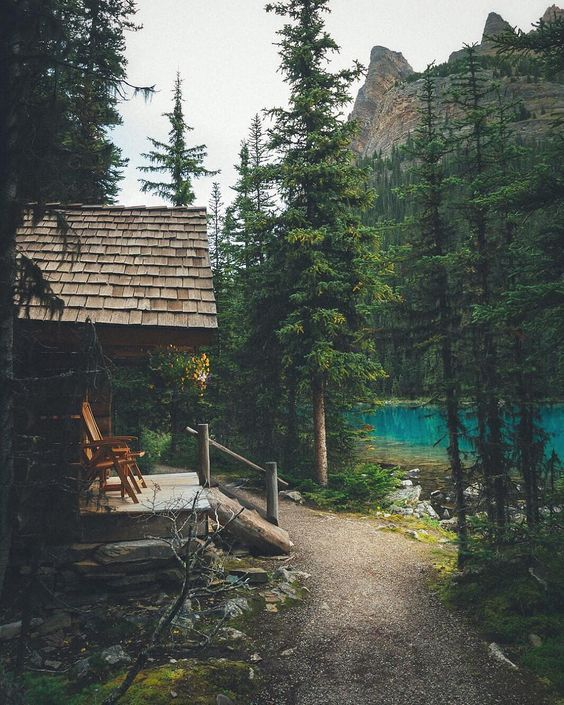 architecture, cabin in the woods, and deck image