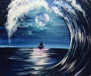 art, boat, and fantasy image