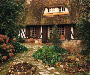 aesthetic, cottage, and green image