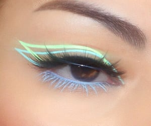 makeup, green, and blue image