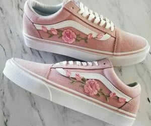 shoes, vans, and pink image