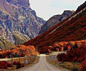 autumn, mountains, and roads image