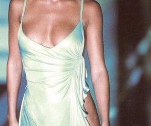 fashion, runway, and green image
