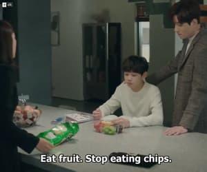 food, korean, and subtitles image