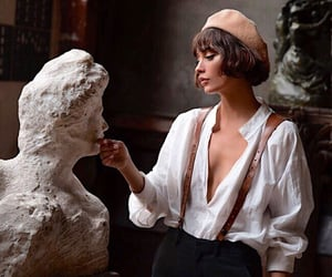 art, girl, and sculpture image