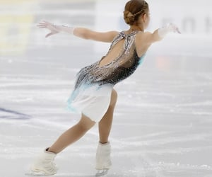 departure, girl, and ice image