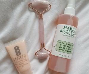 rose, rose quartz, and skincare image