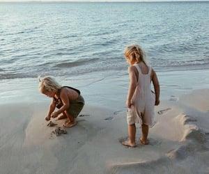 aesthetics, babies, and sea image