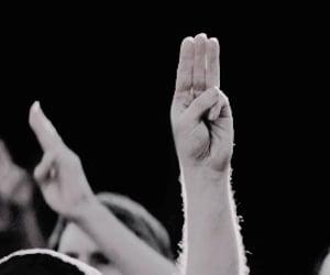 fandom, hands, and mockingjay image