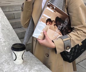 coffee, fashion, and vogue image