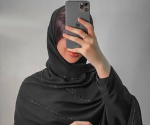 black, chic, and hijab image