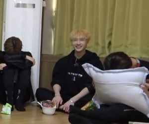 lq, bang chan, and stray kids image