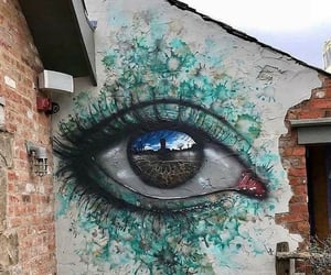eye, olho, and street art image