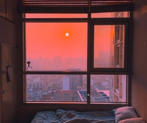 sunset, window, and sunrise image