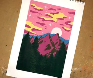 acrylic, clouds, and draw image