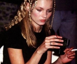 kate moss, model, and cigarette image