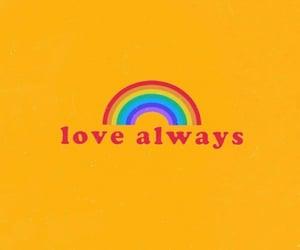 love, rainbow, and yellow image
