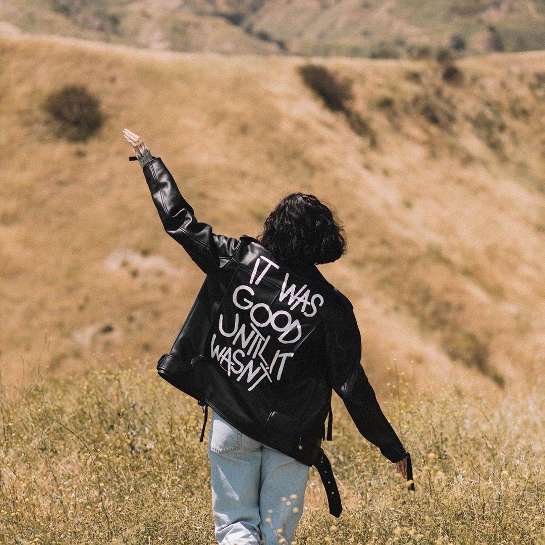 fashion, leather jacket, and girl image