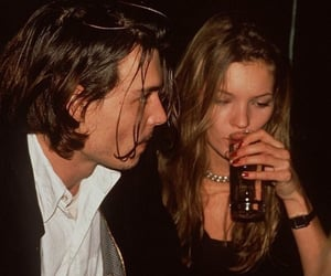 kate moss, 90s, and johnny depp image