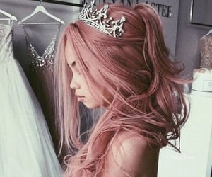 beauty, rose gold hair, and hair image