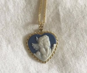 angel, necklace, and blue image