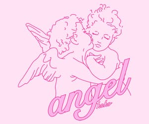 aesthetic, angel, and pink image
