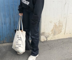 baggy, nike, and street style image