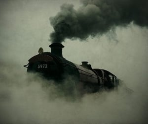 train, harry potter, and hogwarts image