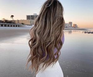girl, beach, and beauty image
