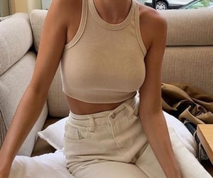 beige, outfit, and pastel image