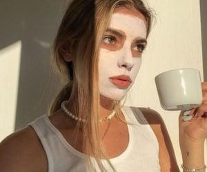 girl, mask, and skincare image
