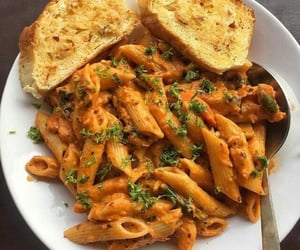 food, pasta, and tasty image