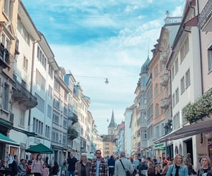 shopping, street, and zurich image