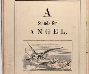 angel, book, and vintage image