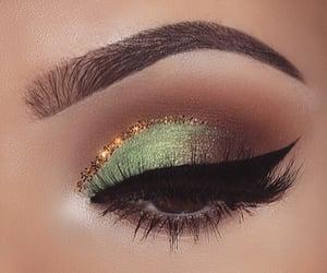 eyebrows, art, and eyeliner image