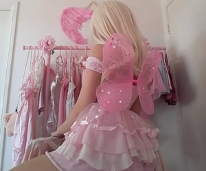 aesthetic, pink, and costume image