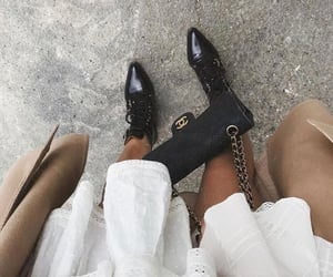 accessories, black boots, and coco chanel image