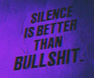 quotes, purple, and silence image