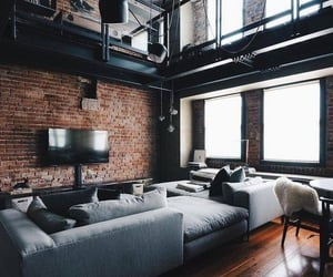 couch, rustic, and cozy image