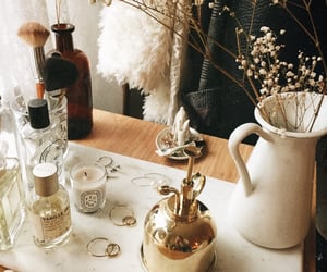 flowers, candle, and fashion image