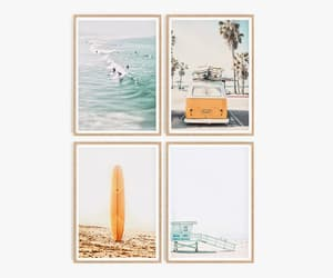 california, palm tree, and surfboard image