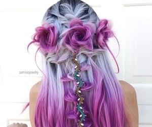 dip dye, pink, and purple image