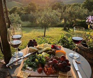 food, wine, and italy image